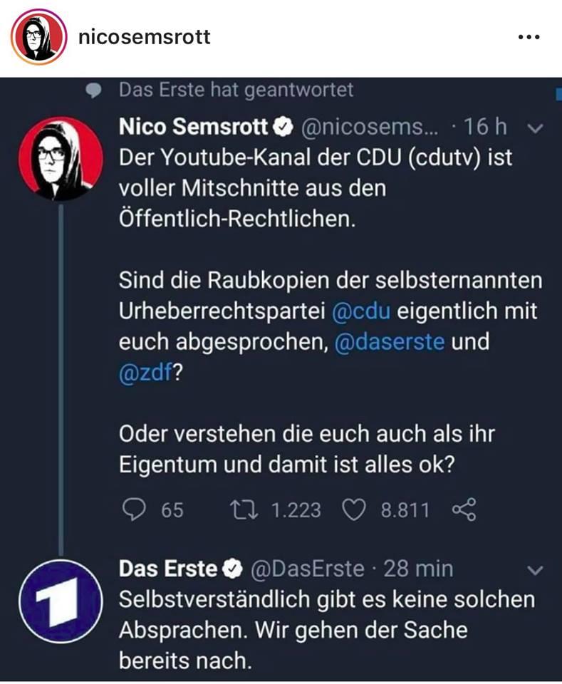 CDU bei Urheberrechtsverletzungen erwischt - vom Kandidaten der PARTEI