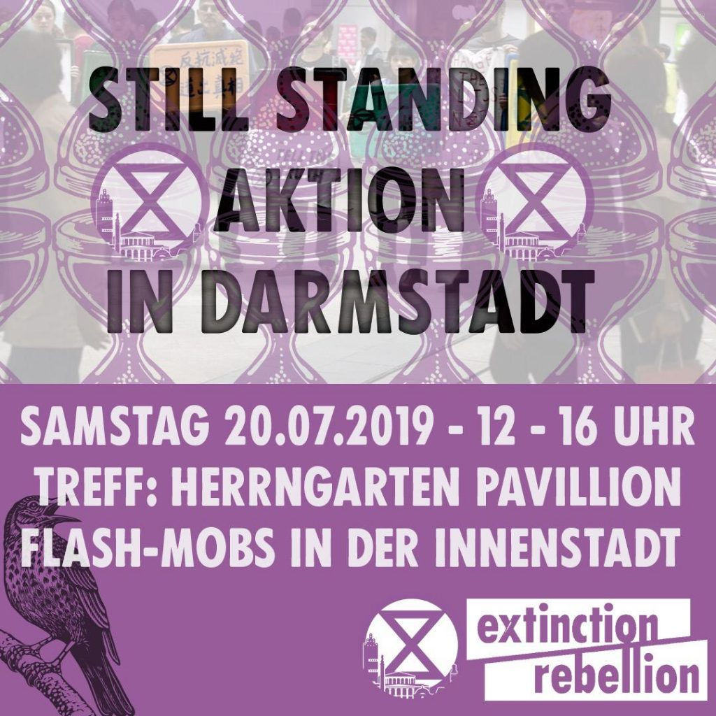 #ExtinctionRebellion in #Darmstadt Sa. 20.7.2019