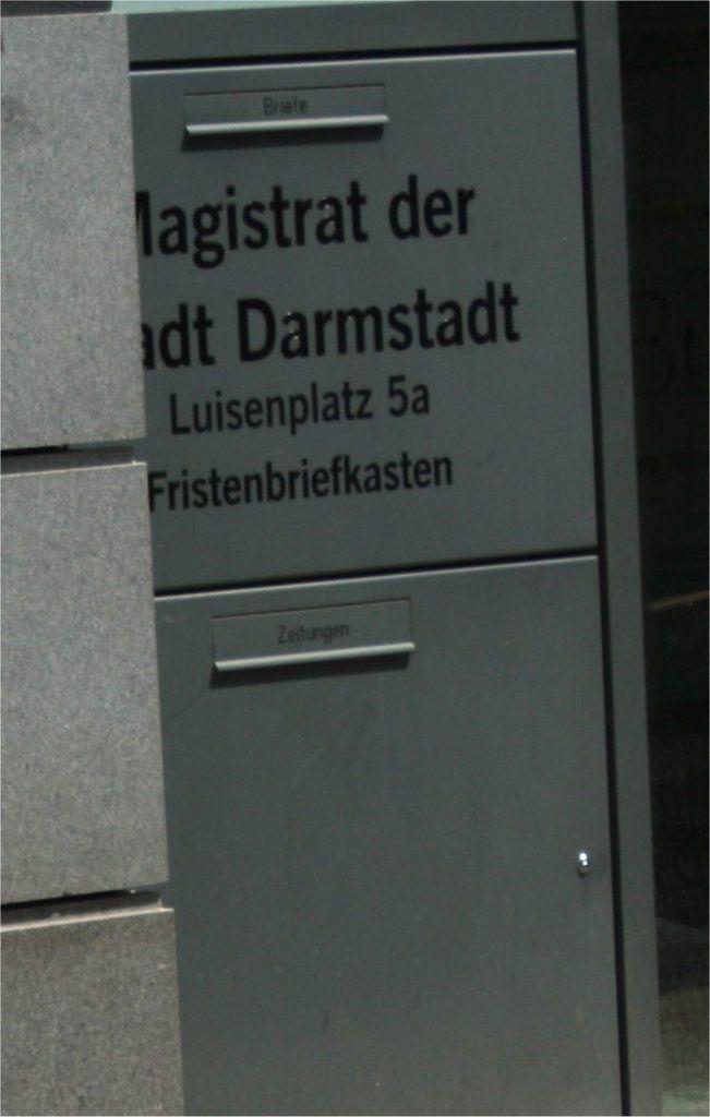 Fristenbriefkasten Stadt Darmstadt