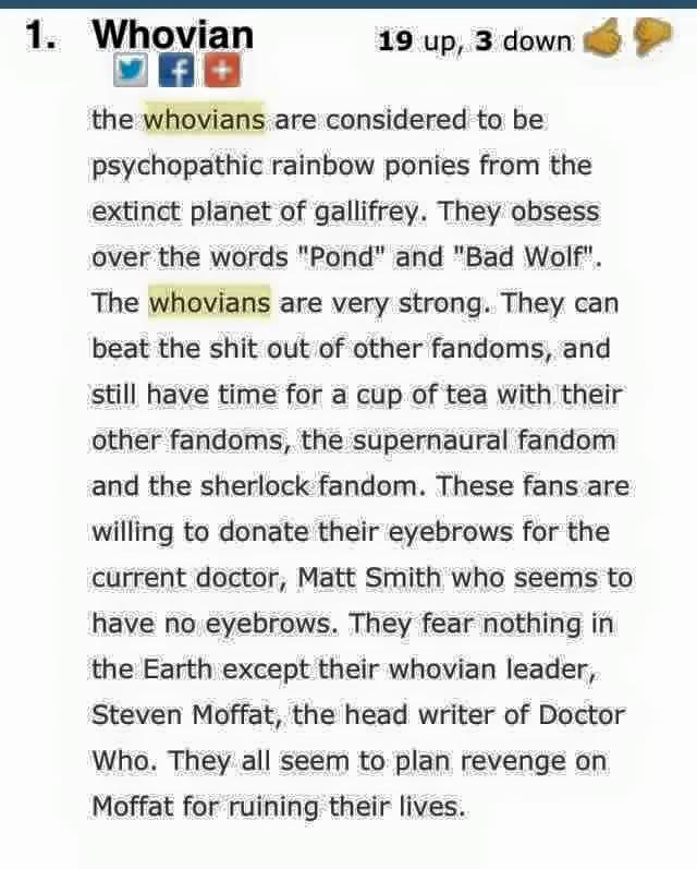 Über Whovonians (aus einem Dr. Who-Fan-Forum)