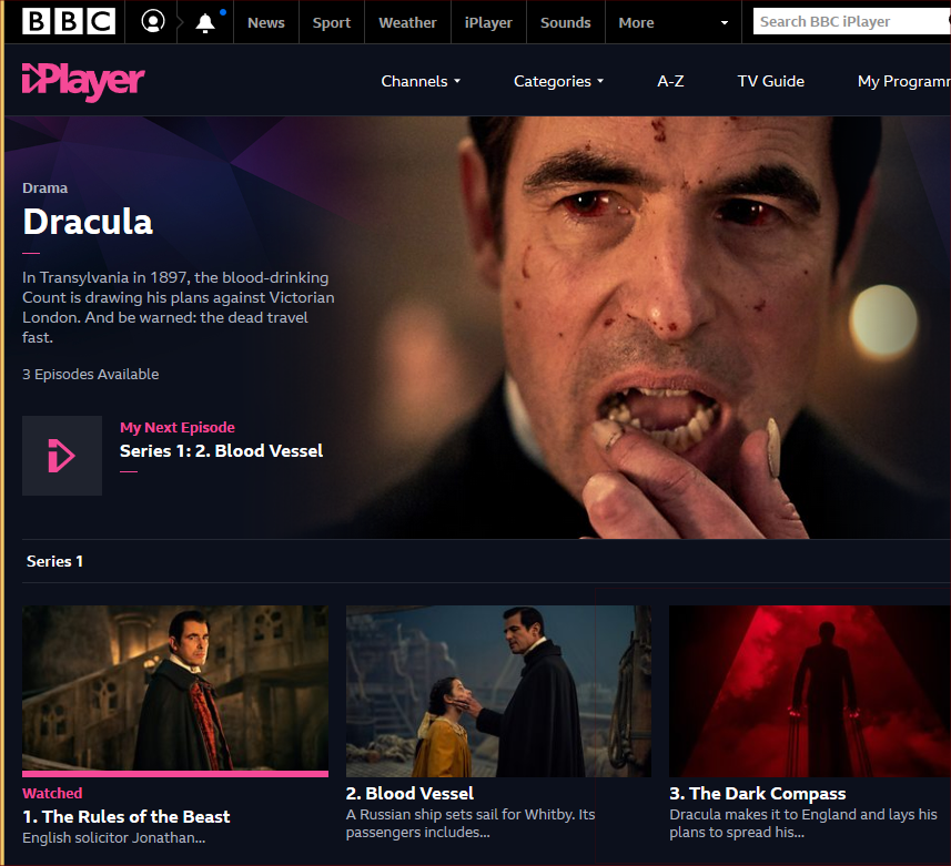Dracula BBC series 2020
