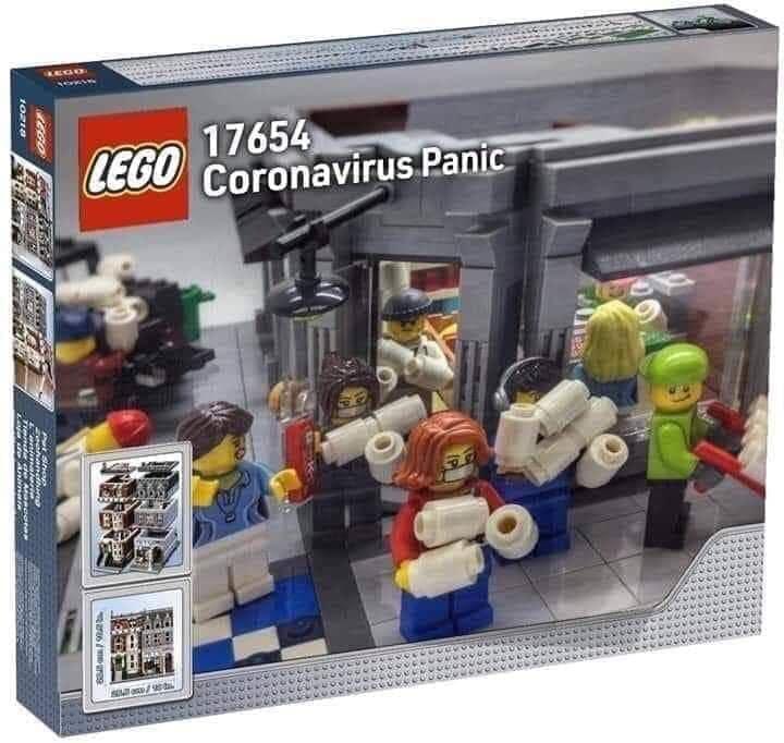 Lego-Set: Corona-Panik