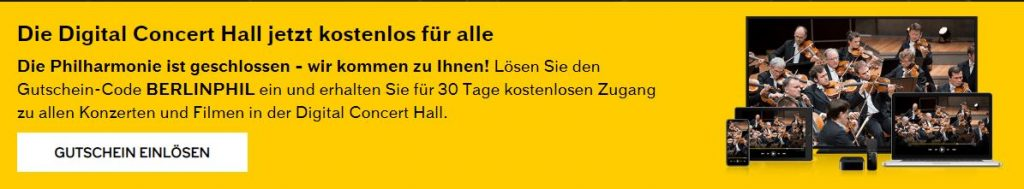 Digital Concert Hall jetzt kostenlos