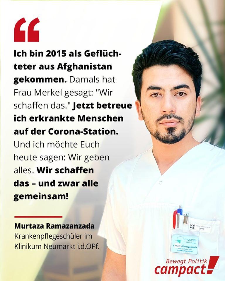 Stark, das macht Mut! Ein solidarisches  für Murtaza und sein gesamtes Krankenhaus-Team. Lasst uns dafür sorgen, dass das Klinikpersonal für ihren aufopferungsvollen Einsatz endlich angemessen belohnt wird.