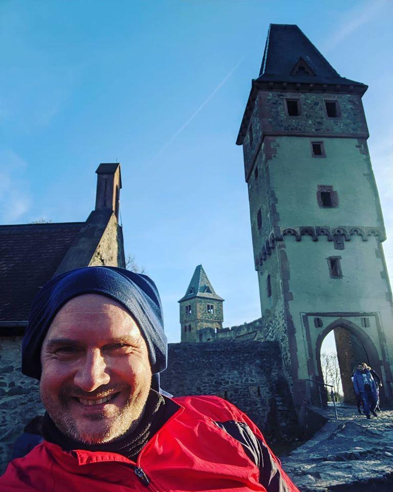 Carsten B. auf Burg Frankenstein (per Fahrrad)