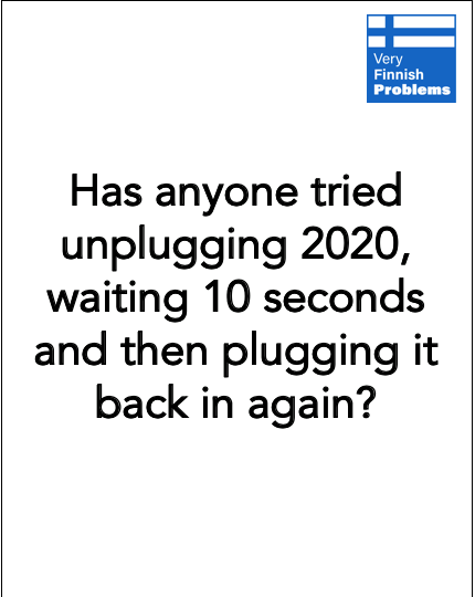 Unplugging 2020