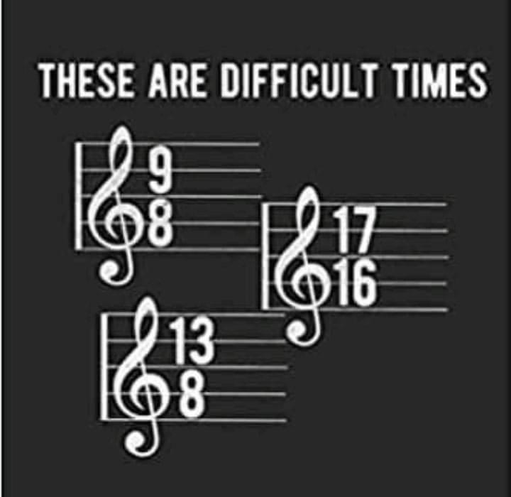 Musikerwitz: Difficult times: 9/8 17/16 und 13/8