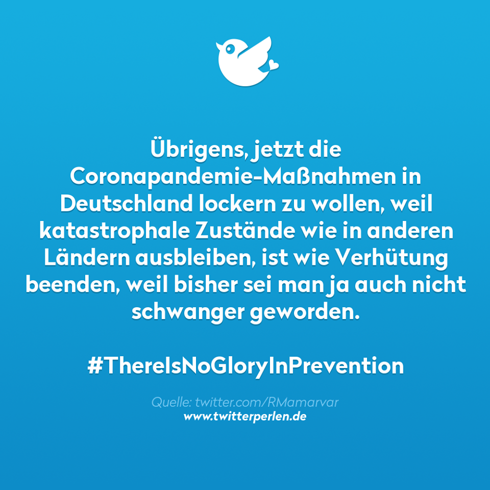 No Glory in Prevention