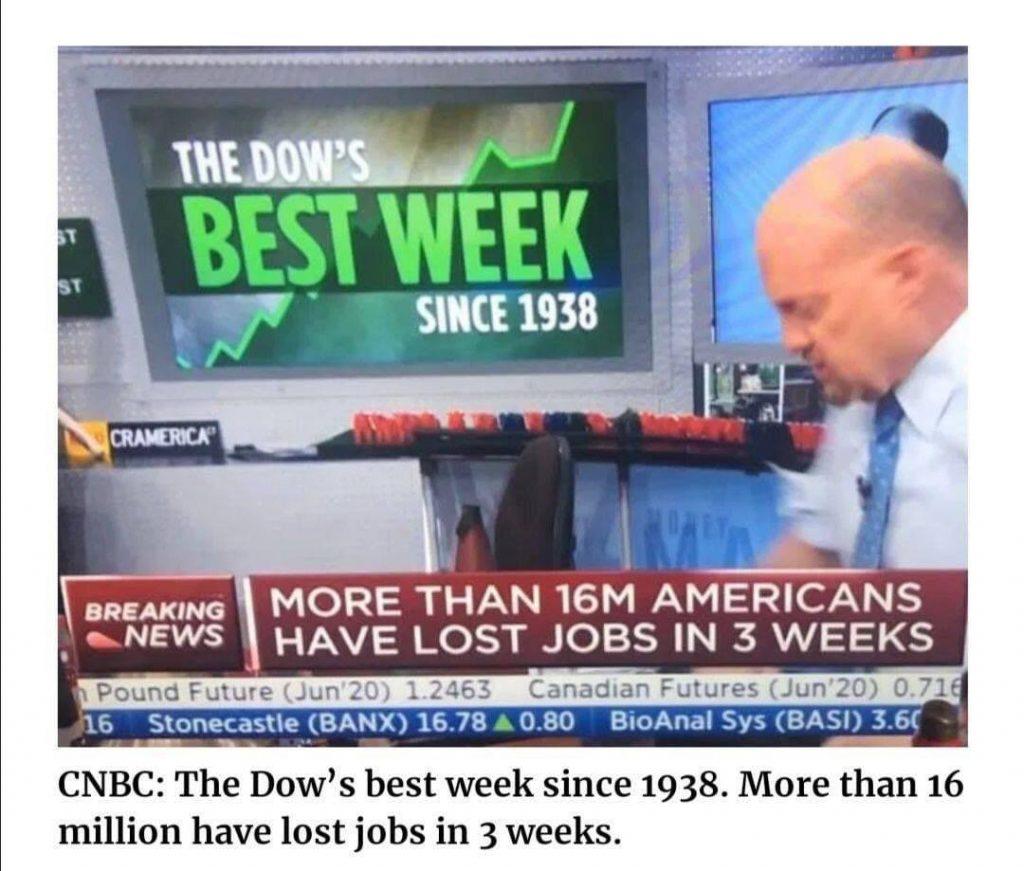 16 Millionen Jobs verloren - DOW auf Rekord-Kurs