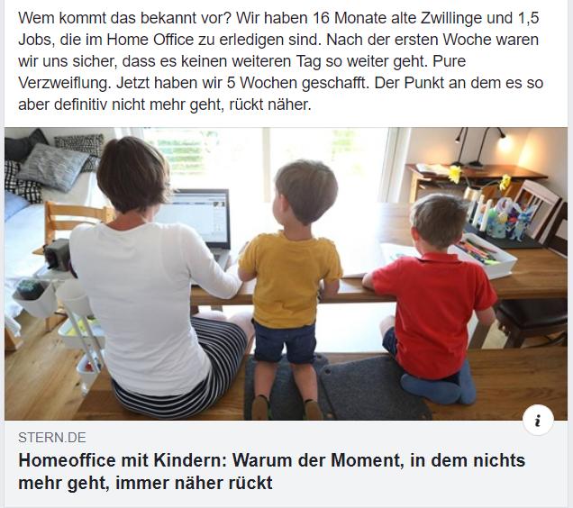 Home office und Kinderbetreuung