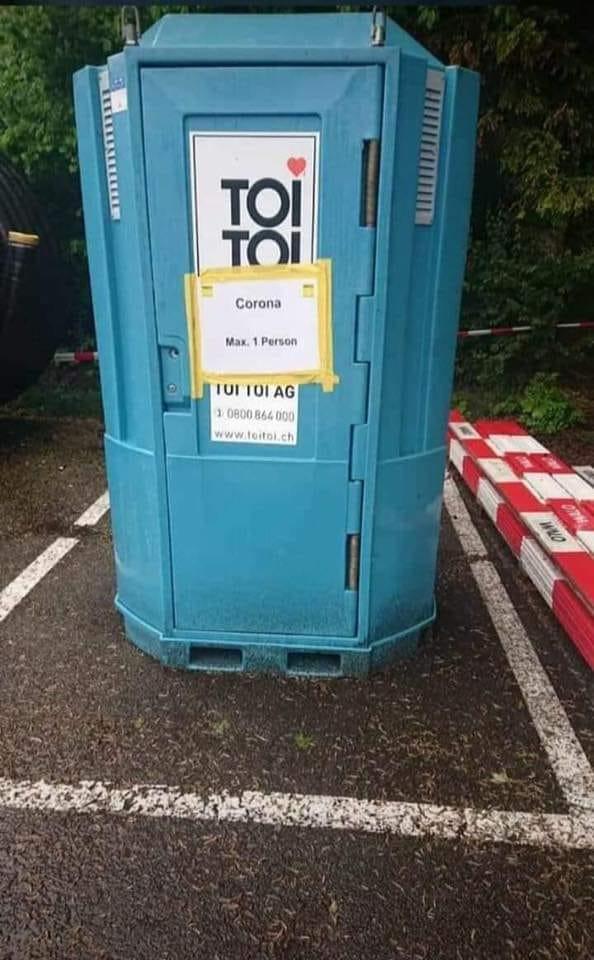 TOI TOI Toilettenhaus- wg. Corona max 1 Person