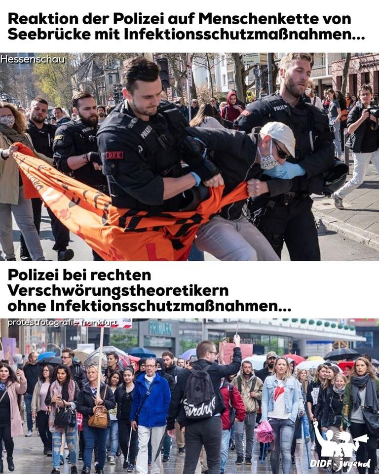 Recht vs. Links - wie die Polizei reagiert