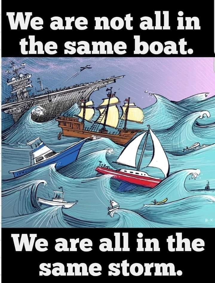 Nicht im gleichen Boot - aber im gleichen Sturm