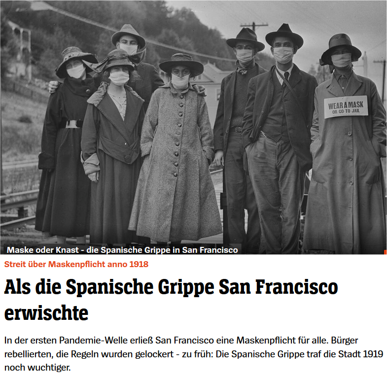 San Francisco 1918 -1919 - Spanische Grippe