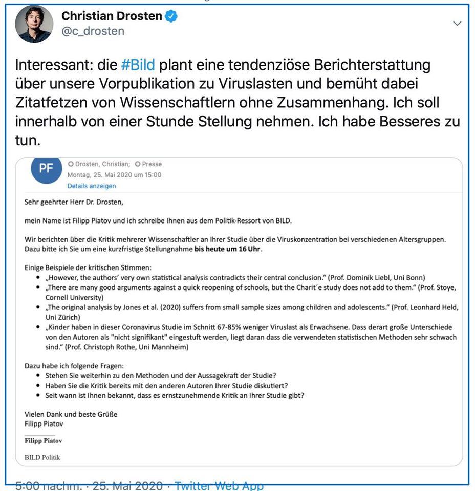 Drosten vs. Springers Hetzblatt Bild