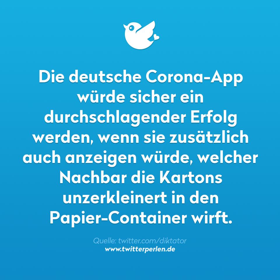 Corona App für Spießer