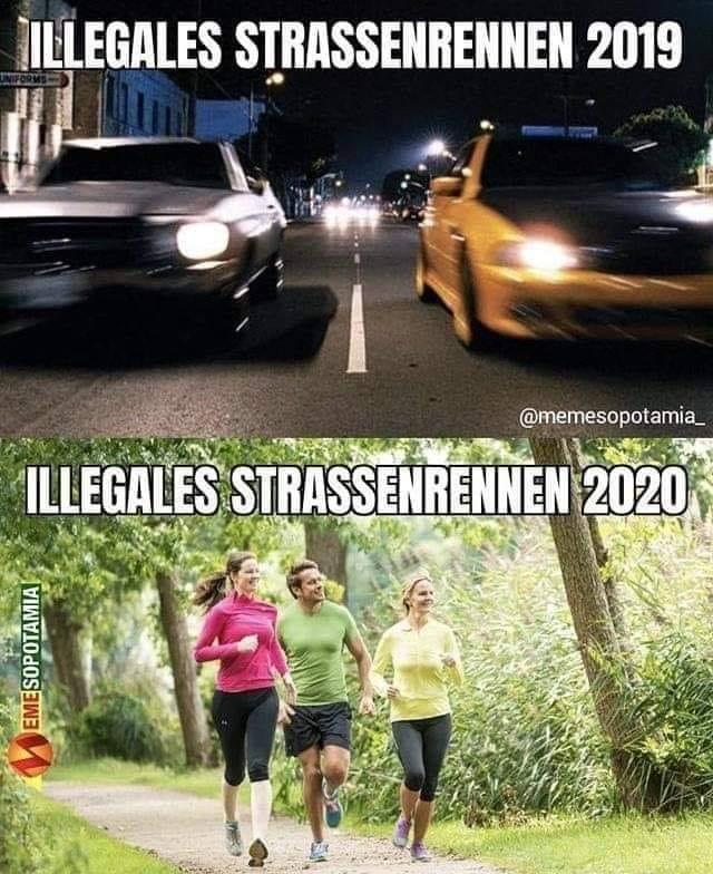 illegales Straßenrennen 2020