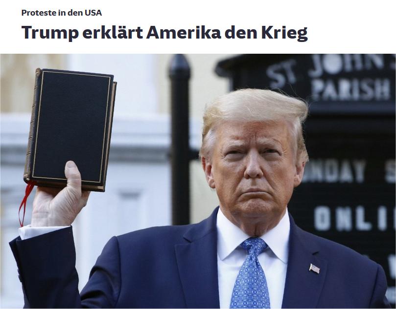 Trumop erklärt Amerika den Kriege