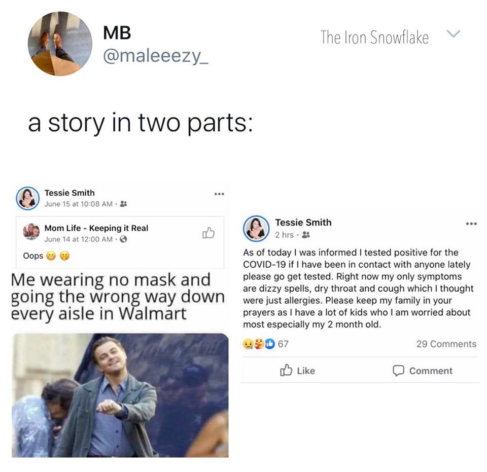 Corona-Geschichte in zwei Teilen