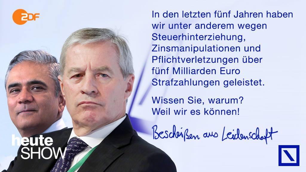 Deutsch Bank - weil wir es können.