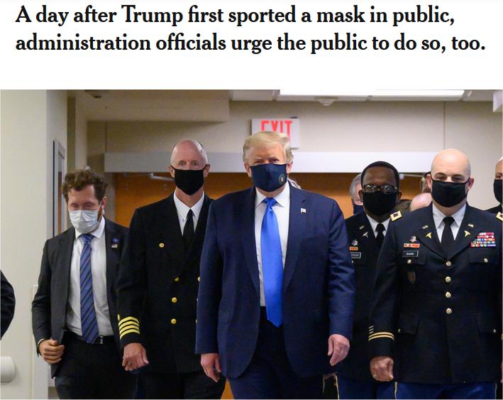 Trump mit Maske