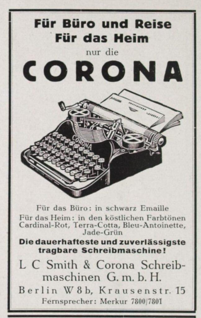 Corona-Werbung