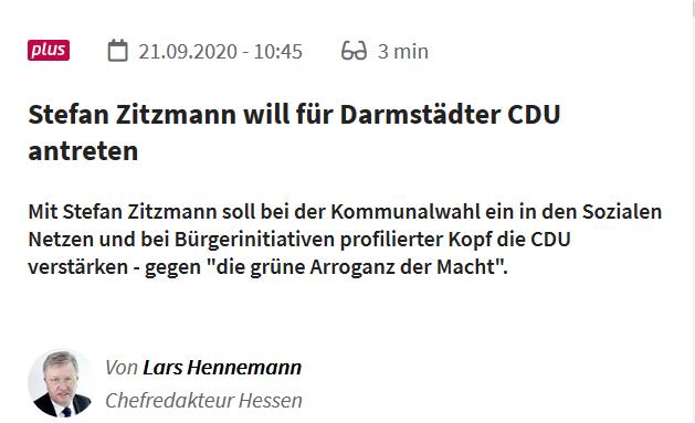 Zitzmann will für Darmstädter CDU antreten