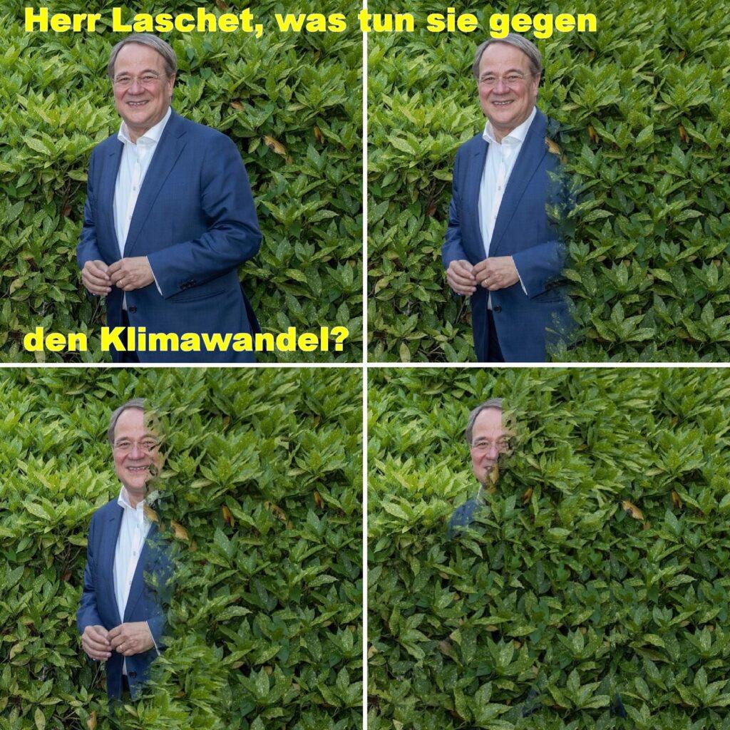 Armin Laschet (CDU) verdrückt sich.