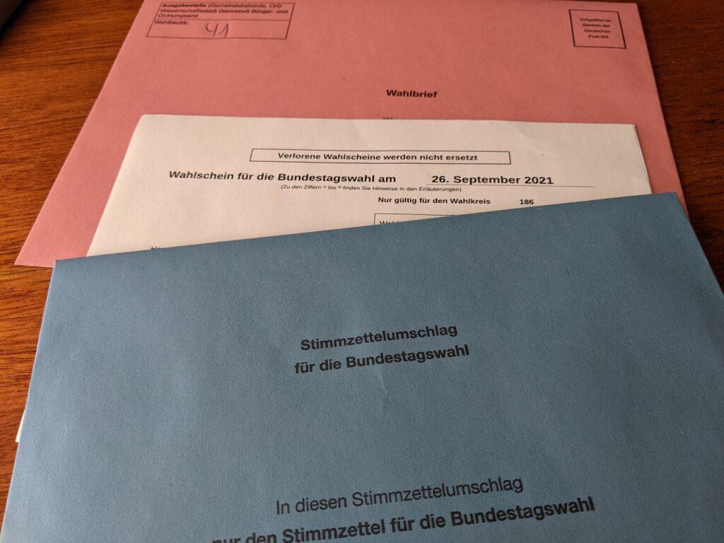 Bundestagswahl - Briefwahl-UNterlagen